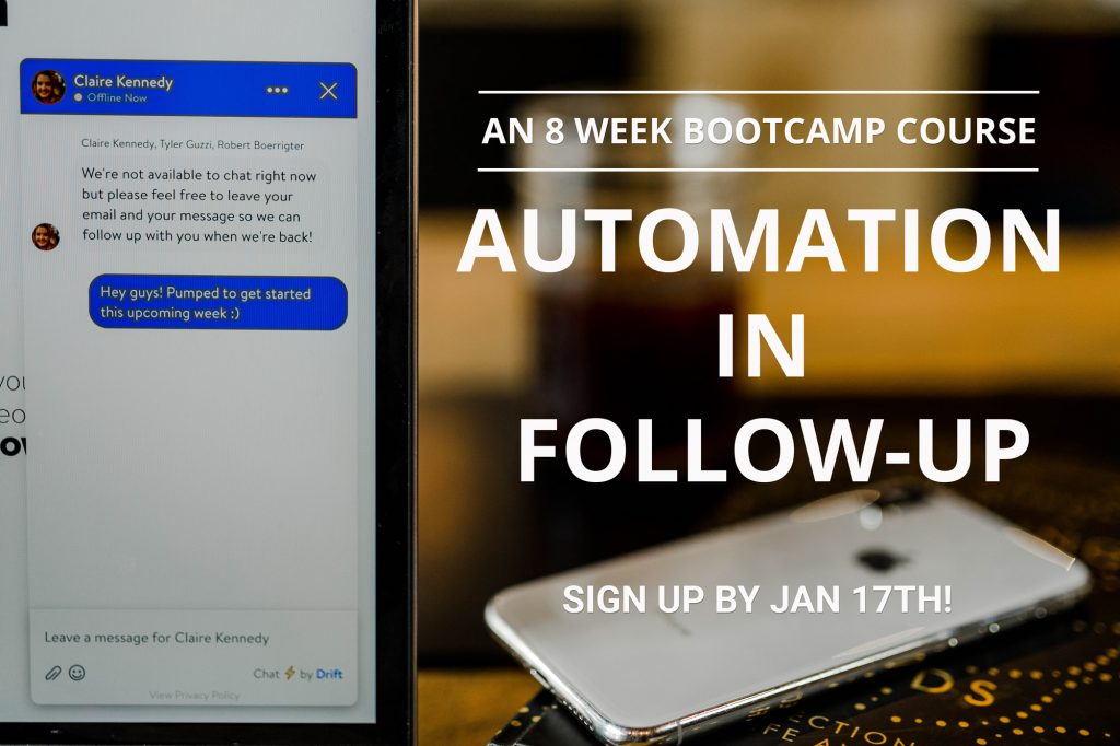 Automation in FollowUp Bootcamp Picture