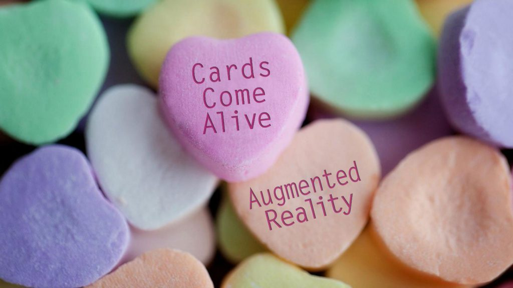Cards come alive with augmented reality