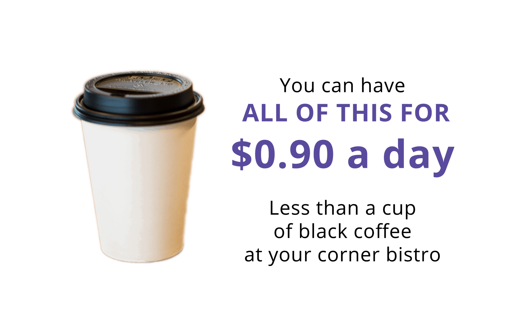 Cup of take out coffee