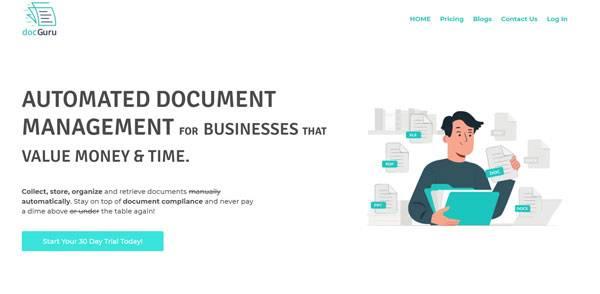 DocGuru Website Screenshot