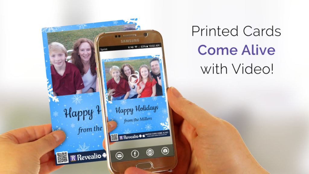 Augmented reality Christmas Cards