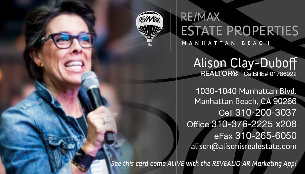 Alison is real estate business card